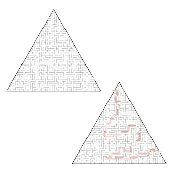 Difficult triangular labyrinth