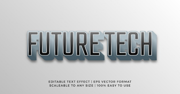 Digital 3d technology cyber text effect