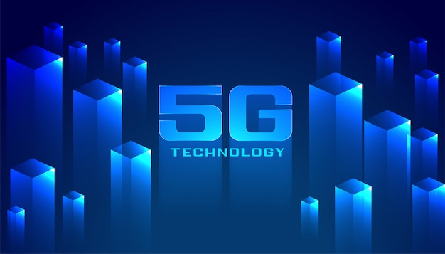 Digital 5g technology network background
