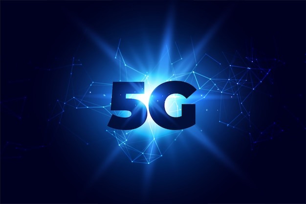 Digital 5g wireless communication network background