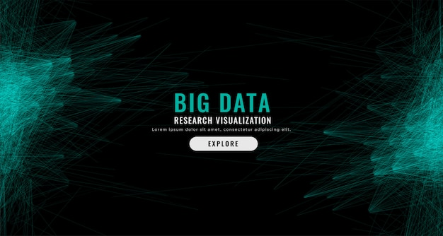 Digital abstract big data mesh background
