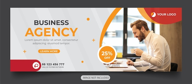 Digital agency social media cover banner template