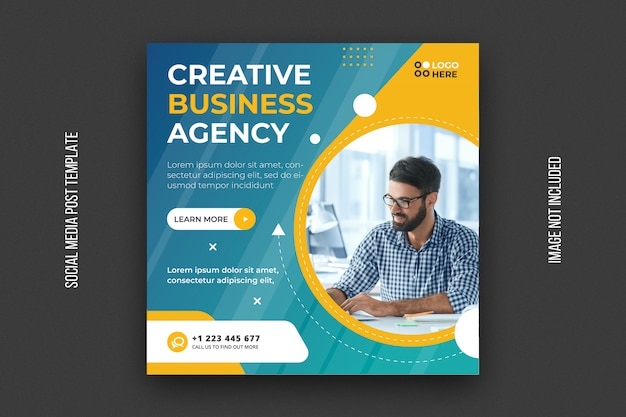 Digital agency social media post template