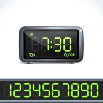 Digital alarm clock numbers