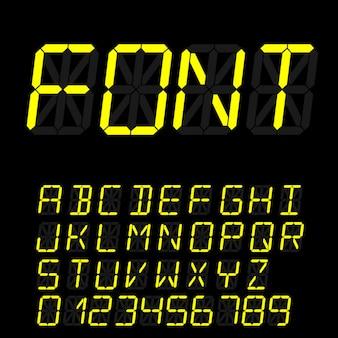 Digital alphabet template
