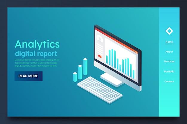 Digital analysis banner