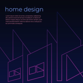 Digital background with home architect abstract