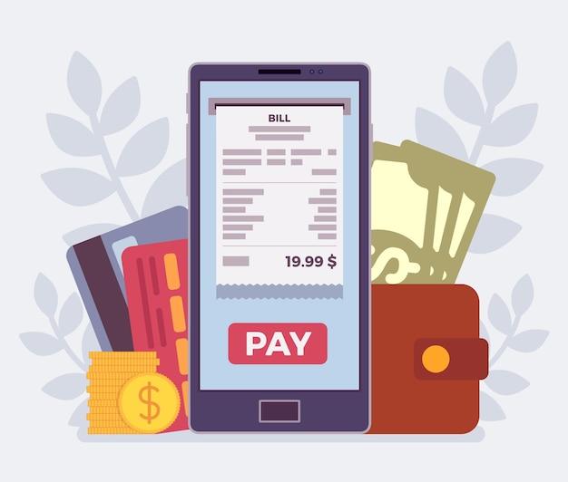 Digital bill mobile payment