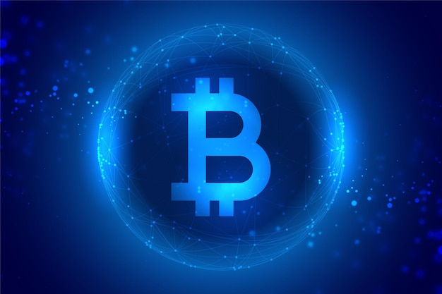 Digital bitcoin currency concept technology background
