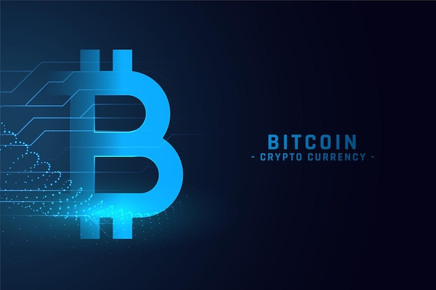 Digital bitcoin technology concept background
