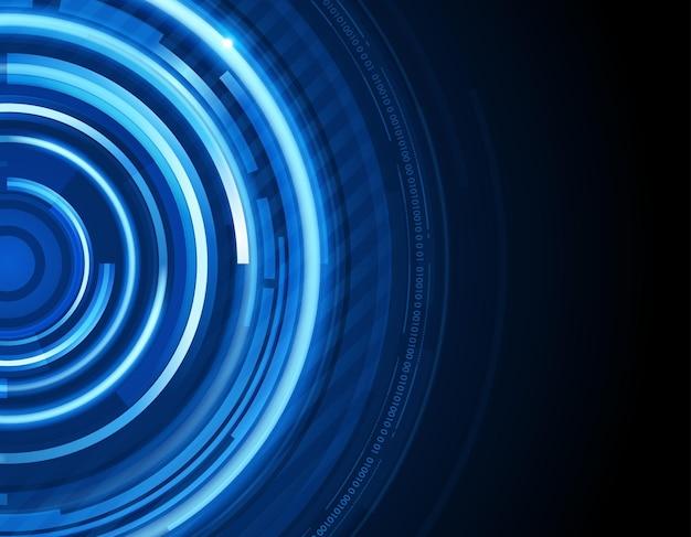 デジタル青い円の抽象的な背景