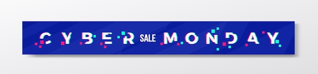 Banner o intestazione alla moda di digital blue cyber monday.