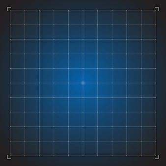Digital blue grid