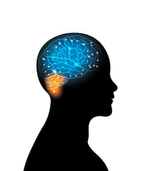 Digital brain abstract for intelligence future technology