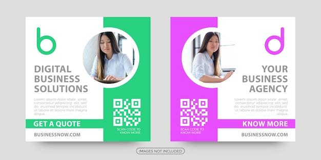 Digital business agency social media post templates