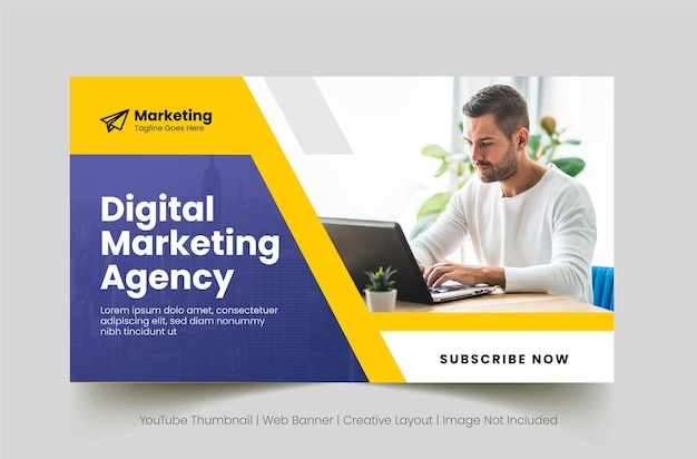 Digital business agency web banner template