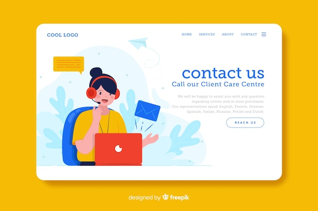 Digital business contact us landing page