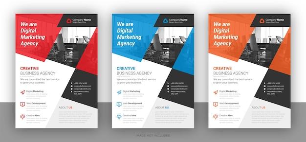 Digital business flyer design template