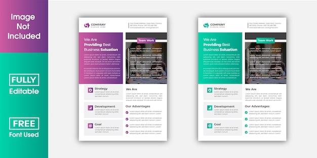 Digital business flyer design template.