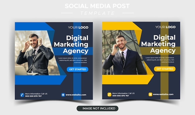 Digital business marketing agency instagram post template
