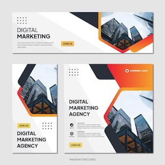 디지털 비즈니스 마케팅 대행사 홍보 소셜 미디어 게시물 템플릿