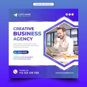 Digital business marketing agency social media post design
