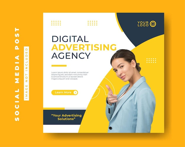 Digital business marketing agency social media post templates square