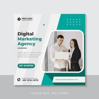 Маркетинговое агентство цифрового бизнеса в социальных сетях размещает веб-баннер