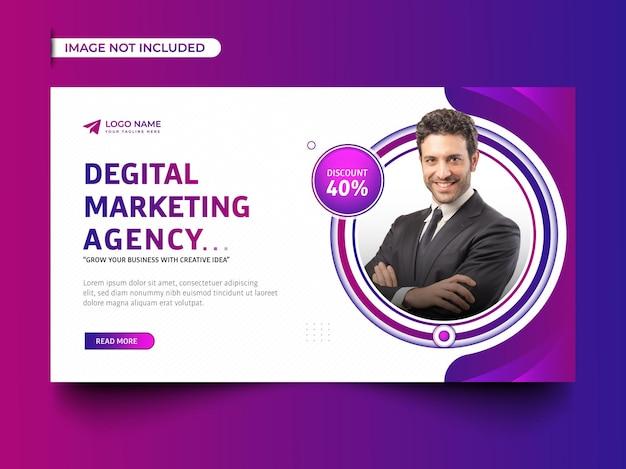 Digital business marketing agency web banner design