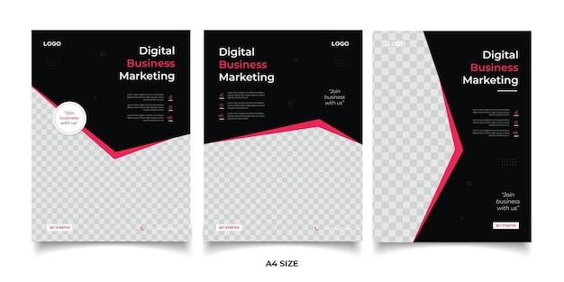 Цифровой бизнес-маркетинг баннер
