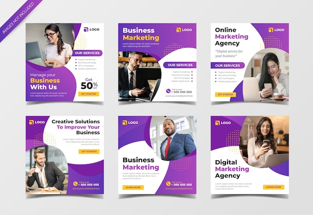 Digital business marketing instagram post collection template