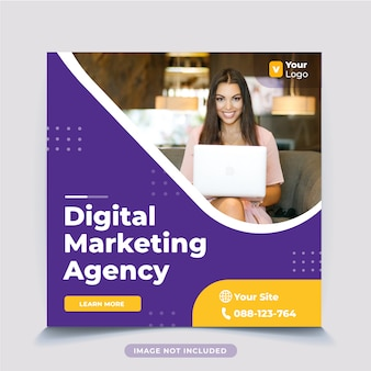 Digital business marketing post template