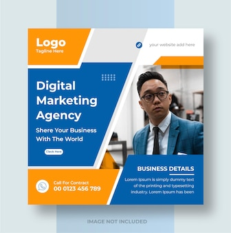 Digital business marketing promotion social media post and web banner design