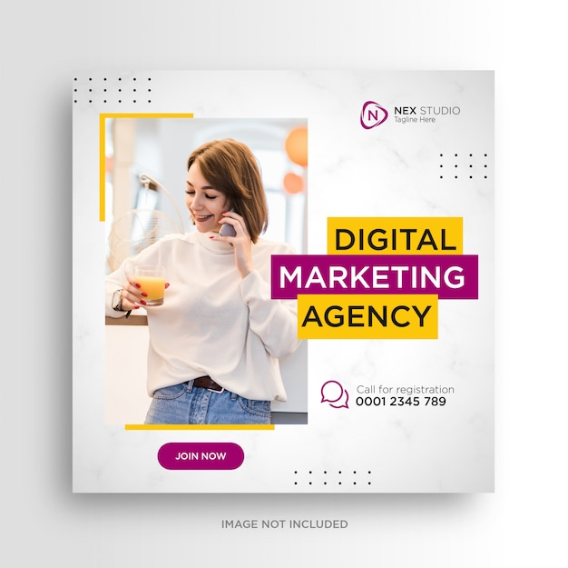 Digital business marketing social media banner square flyer
