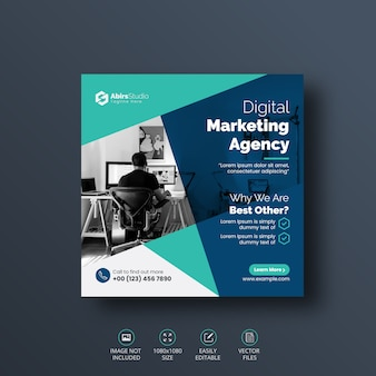 Digital business marketing social media post banner template
