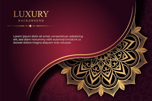Роскошный фон мандалы с золотым узором арабески, цифровой бизнес, маркетинг, социальные медиа, пост-баннер