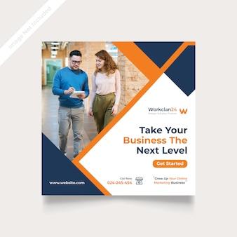 Digital business marketing social media post & banner