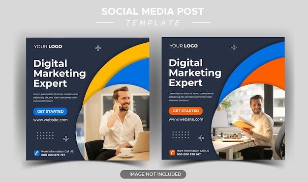 Digital business marketing social media post template