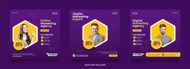 디지털 비즈니스 마케팅 소셜 미디어 게시물 템플릿