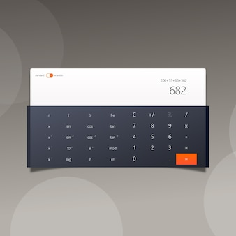 Digital calculator with flat design
