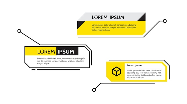 Цифровые выноски заголовок текст рамки hud набор шаблонов современных баннеров элемент вектора синхронизации
