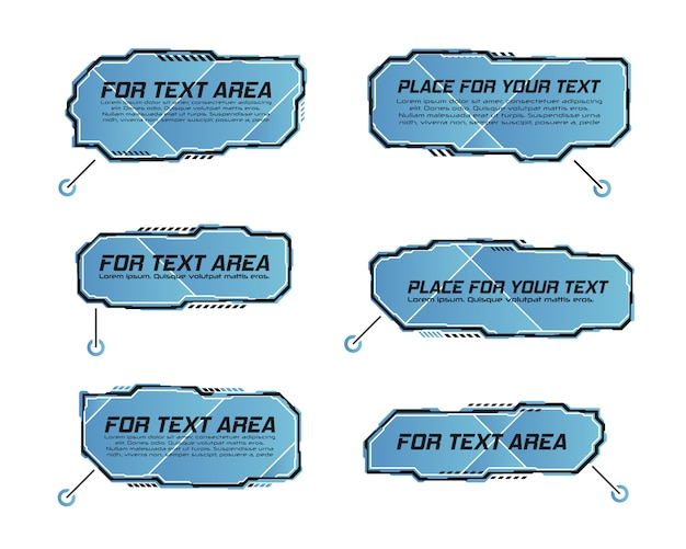Digital callouts titles. set of hud futuristic sci fi banner template.