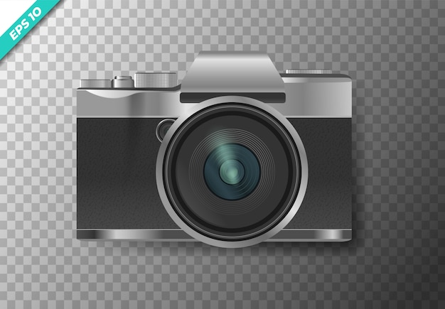 Digital camera on a transparent isolated