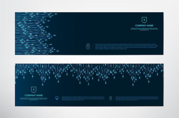 Digital circuits banners template