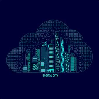 디지털 도시 또는 스마트 도시