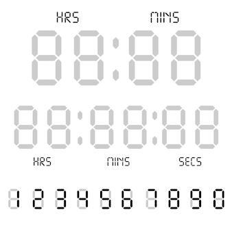 Digital clock. alarm clock letters.