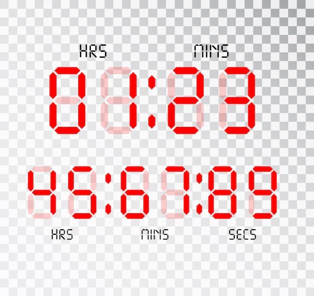Digital clock. calculator digital numbers.