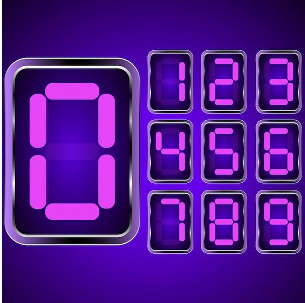 Digital clock . digital uhr nummer. vektor illustration