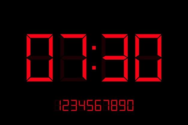 배경에 고립 된 디지털 시계 그림