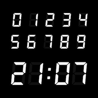 Digital clock number set.